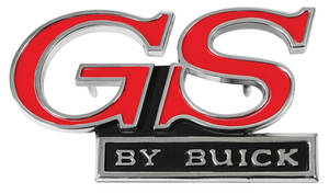 "1970-1970 Skylark Grille Emblem, 1970 ""GS By Buick"""