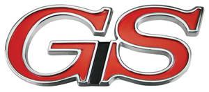 """Skylark Trunk Emblem, 1970-72 """"GS"""""""