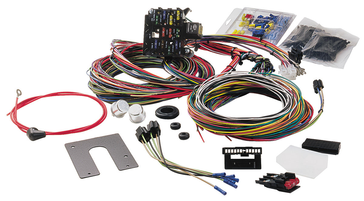 painless performance wiring harness 21-circuit classic gm keyed column  w/signals fits 1969-72 skylark @ opgi com