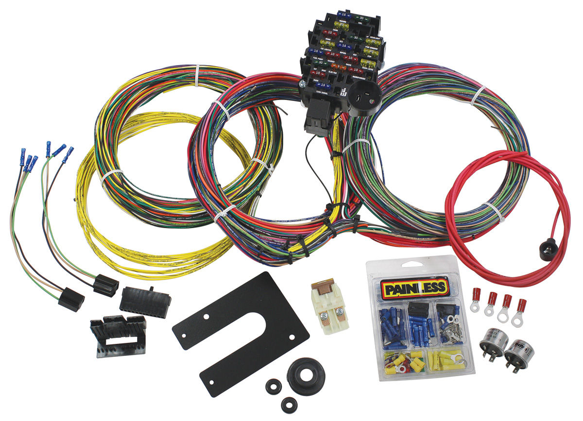 painless performance wiring harness 28-circuit classic plus non-gm keyed  dash ignition fits 1964-68 chevelle @ opgi com