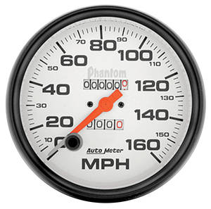 "Gauges, Phantom Series 5"" Mechanical Speedometer (160 Mph)"