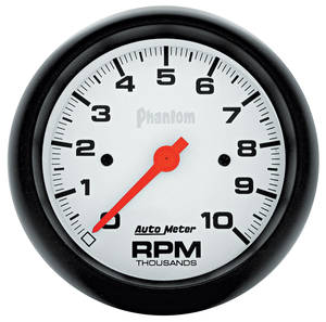 "1961-74 GTO Gauges, Phantom Series 3-3/8"" Tachometer (10,000 Rpm), by Autometer"
