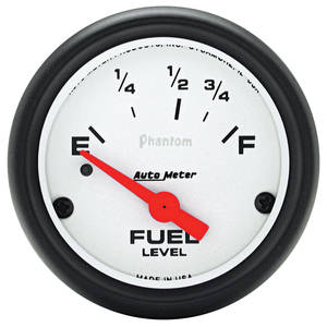 "1978-88 Malibu Gauges, Phantom Series 2-5/8"" Fuel Gauge, by Autometer"