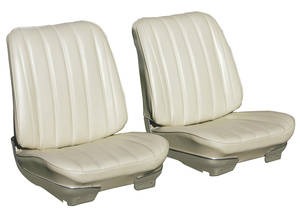 Skylark Seat Upholstery, 1966 Reproduction Split Bench (W/O Armrest) w/Convertible Rear