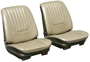 Seat Upholstery, 1969 Skylark Custom/GS 350/GS 400 Split Bench (W/Armrest) w/Convertible Rear, by PUI