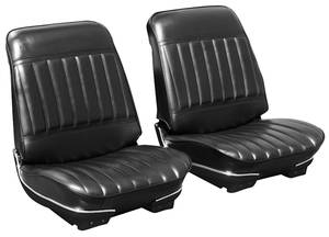 1971-1972 Skylark Seat Upholstery, 1971-72 Skylark/350/GS/Custom Split Bench (W/O Armrest) w/Convertible Rear, by PUI