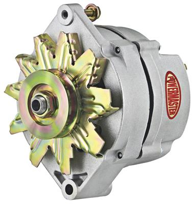 1954-1976 Cadillac Alternator, Performance - 10dn (70-Amp, External Regulator) with Natural Finish, by POWERMASTER