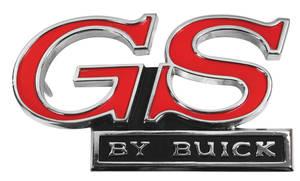 "1971-1971 Skylark Grille Emblem, 1971 ""GS By Buick"""