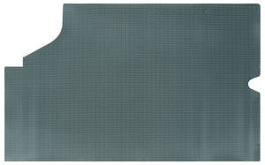 1968-72 Skylark Trunk Mat, Rubber Aqua & Black