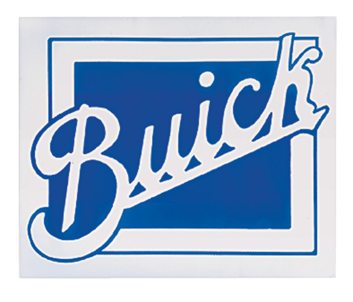 """Photo of Garage Decal Buick, 8-3/8"""" x 10-1/8"""""""