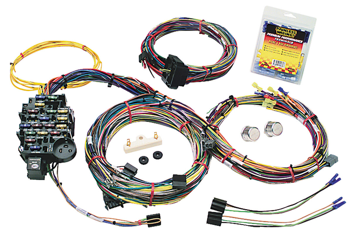 Admirable Painless Performance Wiring Harness Muscle Car Gm 25 Circuit Wiring Digital Resources Ommitdefiancerspsorg