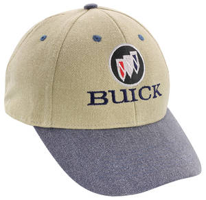 Buick Logo Hat Indigo/Beige