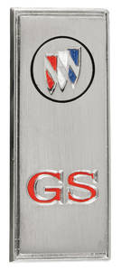 "Skylark Door Panel Emblem, 1971 ""GS"""