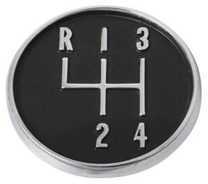 "1964-1972 Skylark Console Shift Pattern, 4-Speed 1-1/2"" Dia."