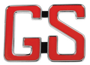 "Riviera Quarter Panel Emblem, 1966 ""GS"" (2-Post)"
