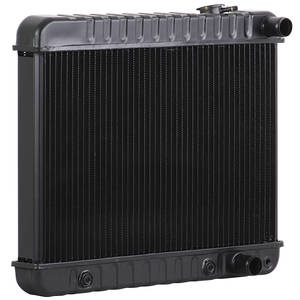 "1966-1967 Skylark Radiator, Desert Cooler 4-Row 17"" X 20-3/4"" X 2"" MT (Driver Upper/Passenger Lower Hose), by U.S. Radiator"