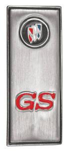 """1970-1970 Skylark Door Panel Emblem, 1970/1972 """"GS"""""""