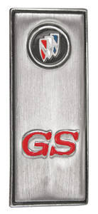 "Skylark Door Panel Emblem, 1970/1972 ""GS"""