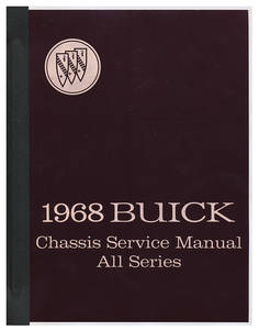 1968 Chassis Service Manuals, Riviera