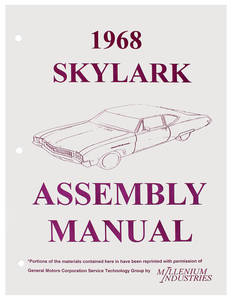 1968 Skylark Assembly Manuals, Buick