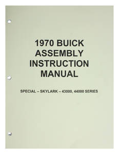 1970-1970 Skylark Assembly Manuals, Buick