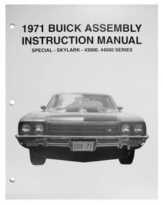 1971 Skylark Assembly Manuals, Buick