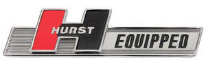 "1961-73 GTO Emblem, ""Hurst Equipped"""