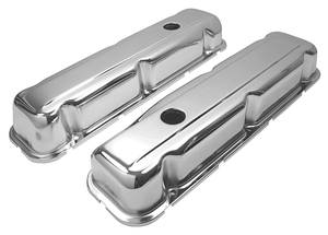 1967-76 Riviera Valve Covers, Chrome Steel (Buick 350)