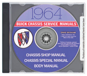 1964 Riviera Buick Factory Shop Manuals On CD-ROM