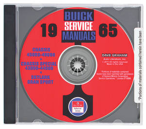 1965 Riviera Buick Factory Shop Manuals On CD-ROM