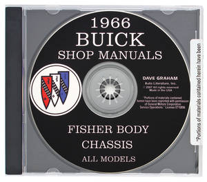 1966 Riviera Buick Factory Shop Manuals On CD-ROM