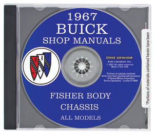 1967 Riviera Buick Factory Shop Manuals On CD-ROM