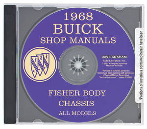 1968 Riviera Buick Factory Shop Manuals On CD-ROM