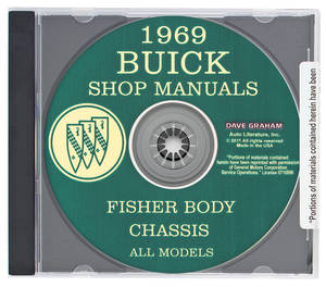 1969-1969 Riviera Buick Factory Shop Manuals On CD-ROM