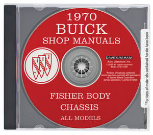 1970 Riviera Buick Factory Shop Manuals On CD-ROM