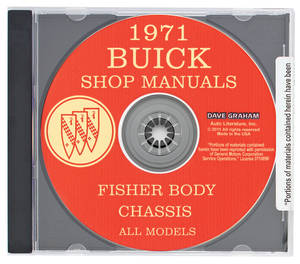 1971 Riviera Buick Factory Shop Manuals On CD-ROM