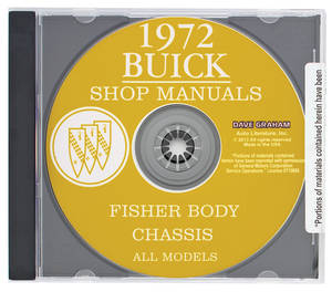 1972 Riviera Buick Factory Shop Manuals On CD-ROM