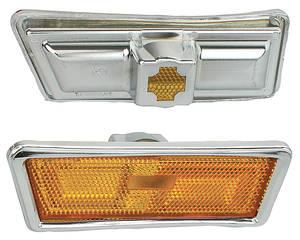 Skylark Marker Assemblies, 1970-72 Side Front, Amber Lenses