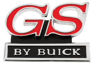 "Skylark Grille Emblem, 1972 ""GS By Buick"""