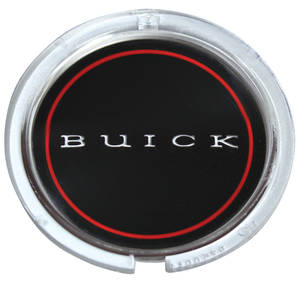 "1969-72 Riviera Steering Wheel Horn Button Emblem, ""Buick"", by TRIM PARTS"