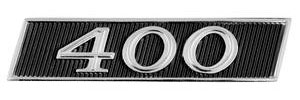 "1967-1967 Skylark Tail Panel Emblem, 1967 GS ""400"""