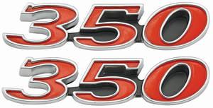 1969-1969 Skylark Hood Emblem, 1969 GS 350