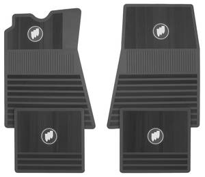 1963-76 Riviera Floor Mats, Buick Tri-Shield Front & Rear