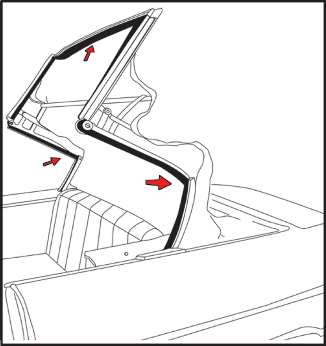 steele rubber products skylark convertible roof rail