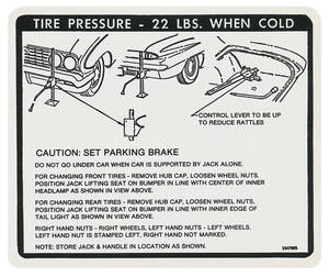 1961 Skylark Jacking Instruction Decal (#1347985)