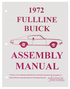 1972 Skylark Assembly Manuals, Buick