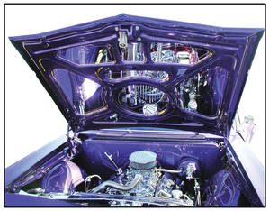 1964 Skylark Engine Compartment Mirror Kit - Hood