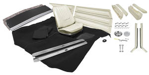 1971-72 Interior Kit, Skylark Coupe Stage II, Custom Bench w/o Armrest