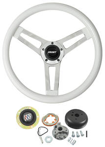 1964-1966 Skylark Steering Wheels, Classic Series White Wheel