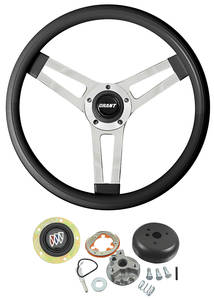 1969-76 Riviera Steering Wheel, Classic Series Black Standard Column